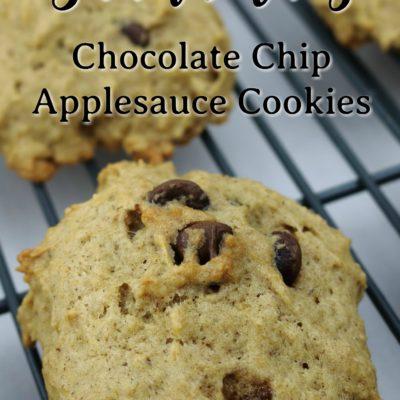 Floating Chocolate Chip Applesauce Cookies