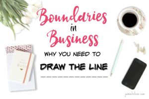 Boundaries in Business: Why You Need to Draw the Line - Jaimie Listens: Don't get caught and sunk by demanding unproductive business relationships. Learn how to handle difficult people.
