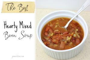Best Hearty Bean Soup Mix - Jaimie Listens: This hearty soup uses Bob's bob's Red Mill Whole Grains and Beans soup mix to create a simple and healthy meal for 6 for under $10!