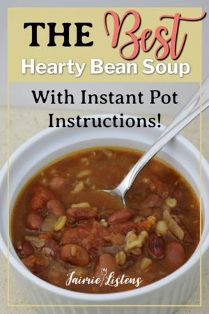 Best Hearty Bean Soup Mix - Jaimie Listens: This hearty soup uses Bob's Red Mill Whole Grains and Beans soup mix to create a simple and healthy meal for 6 for under $10!