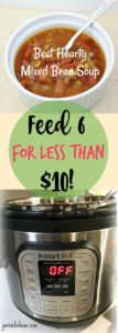 Best Hearty Mixed Bean Soup - Jaimie Listens: Make an easy, healthy meal your family will love for under $10!