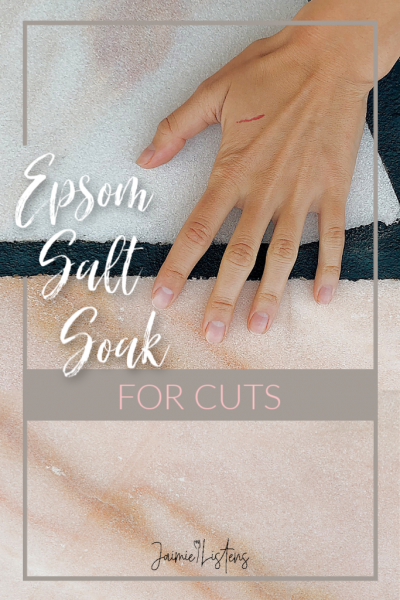 Epsom Salt Soak for Cuts Using HOT Water