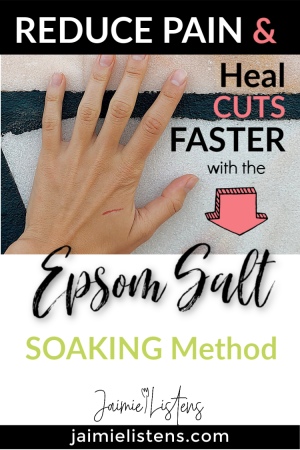 Heal Cuts Faster & With Less Pain Using Epsom Salt - Jaimie Listens